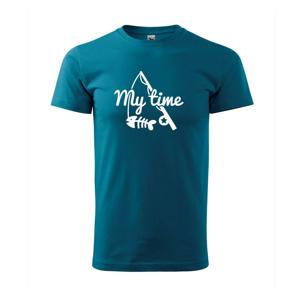 Rybárčenie - My time - Tričko Basic Extra veľké