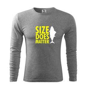 Rybárčenie - Size does matter - Tričko s dlhým rukávom FIT-T long sleeve