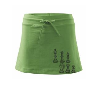 Šachové figúrky kreslené - Športová sukne - two in one