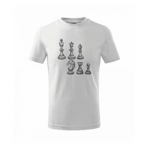 Šachové figúrky kreslené - Tričko detské basic