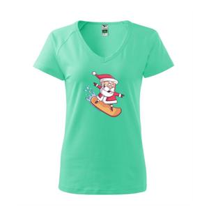 Santa jazdiaci na snowboarde - Tričko dámske Dream