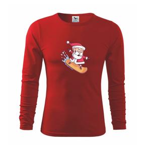 Santa jazdiaci na snowboarde - Tričko detské Long Sleeve