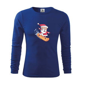 Santa jazdiaci na snowboarde - Tričko s dlhým rukávom FIT-T long sleeve