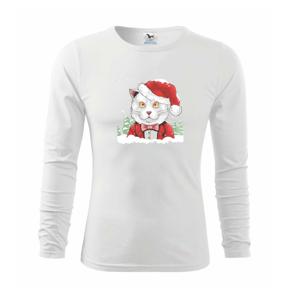 Santa kocúr - Tričko detské Long Sleeve