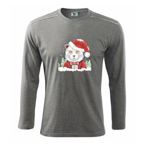 Santa kocúr - Tričko s dlhým rukávom Long Sleeve