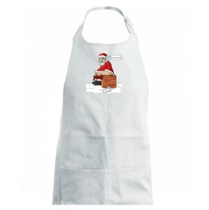 Santa na komíne (Hana-creative) - Detská zástera na varenie