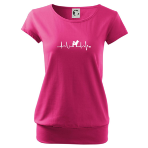 Shiba-Inu EKG - Voľné tričko city
