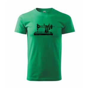 Šijací stroj - starý kreslený - Heavy new - tričko pánske