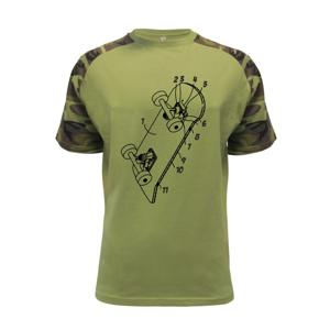 Skateboard nákres dosky - Raglan Military