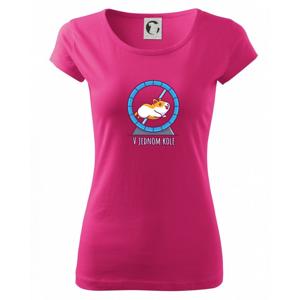 Škrečok v jednom kole - Pure dámske tričko