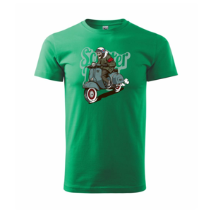 Skúter boy v bunde - Heavy new - tričko pánske