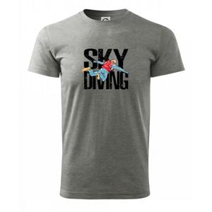 Skydiving nápis - Heavy new - tričko pánske