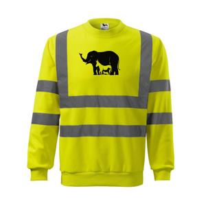 Slon, pes, mačka - Reflexná mikina
