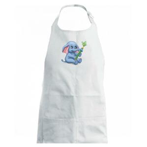 Slon s pastelkou (Hana-creative) - Detská zástera na varenie