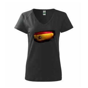 Španielska vlajka ohryzaná - Tričko dámske Dream
