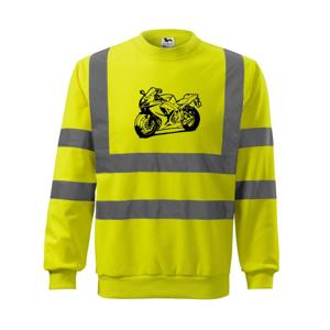 Športová motorka - Reflexná mikina