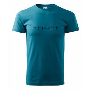 Srdce EKG - Heavy new - tričko pánske