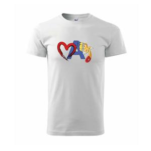 Srdce maľujem - Tričko Basic Extra veľké