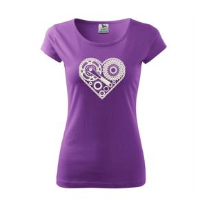 Srdce plné cyklo dielov - Pure dámske tričko