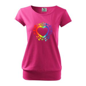 Srdce pride kvety - Voľné tričko city