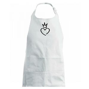 Srdce princezná - Detská zástera na varenie