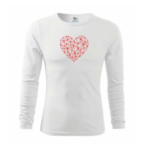 Srdce sieť - Tričko detské Long Sleeve