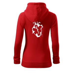 Srdce zdravia - Mikina dámska trendy zipper s kapucňou
