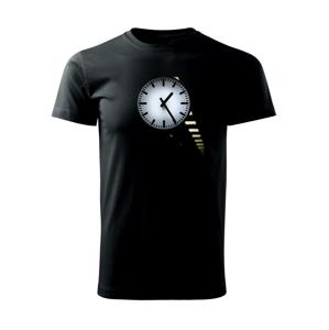 Staré hodiny - Tričko Basic Extra veľké