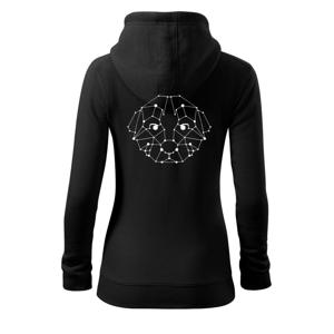 Šteňa - Geometria  - Mikina dámska trendy zipper s kapucňou
