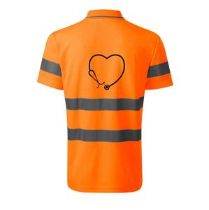 Stetoskop srdce - HV Runway 2V9 - Reflexné polokošeľa