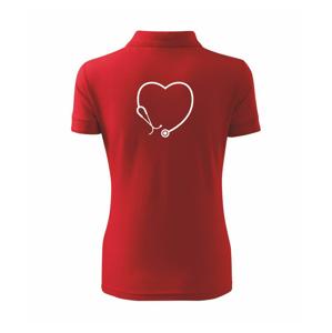 Stetoskop srdce - Polokošeľa dámska Pique Polo