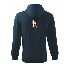 Stolný futbal postavy - Mikina s kapucňou na zips trendy zipper