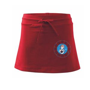 Súhvezdie strelec farebné  - Športová sukne - two in one