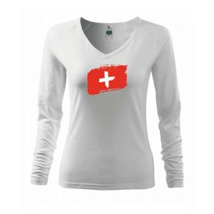 Švajčiarsko vlajka - Tričko dámske Elegance