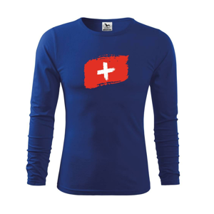 Švajčiarsko vlajka - Tričko detské Long Sleeve