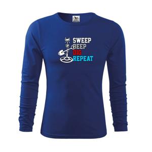 Sweep Beep Dig Repeat - Tričko detské Long Sleeve