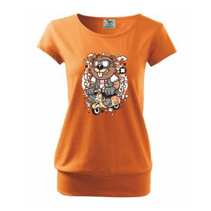 Syseľ na skútri - Voľné tričko city