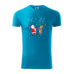 Tancujúci Santa a sob - Viper FIT pánske tričko