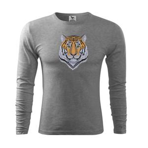 Tiger hlava - Tričko s dlhým rukávom FIT-T long sleeve
