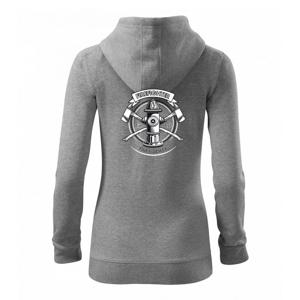 Tirefighter logo Fire and rescue - Mikina dámska trendy zipper s kapucňou