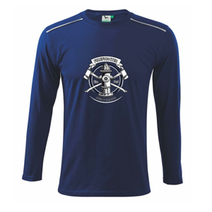 Tirefighter logo Fire and rescue - Tričko s dlhým rukávom Long Sleeve