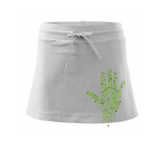 Tlačený spoj ruka - Športová sukne - two in one