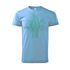 Tlačený spoj strom - Heavy new - tričko pánske