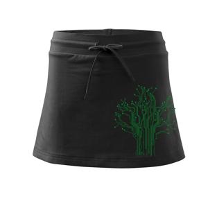 Tlačený spoj strom - Športová sukne - two in one