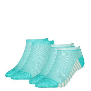 TOMMY HILFIGER - 2PACK summer stripes mint combo členkové ponožky-39-42
