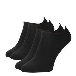TOMMY HILFIGER - 2PACK čierne členkové ponožky-39-42