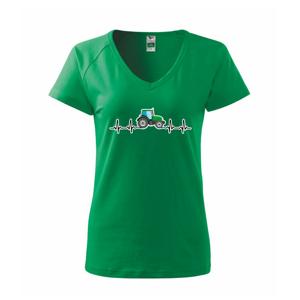 Traktor farebný ekg - Tričko dámske Dream
