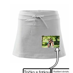 Tričko s vlastnou fotkou - Športová sukne - two in one