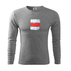 Turistická značka - červená - Tričko s dlhým rukávom FIT-T long sleeve