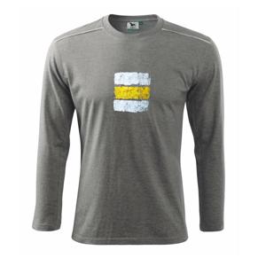 Turistická značka - žltá - Tričko s dlhým rukávom Long Sleeve